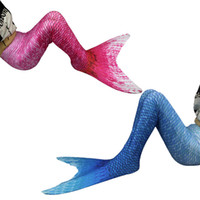 Wholesale Swimming Costume Girl - Children Mermaid Tail Cosplay Costume Swim Dress For Girls Kids Tails Without Monofin(only the skirt)