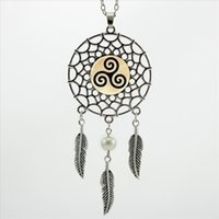 2017 Trendy Style Triskelion Allison Halskette Teen Wolf Schmuck Dream Catcher Anhänger Dreamcatcher Halskette NDC-0014