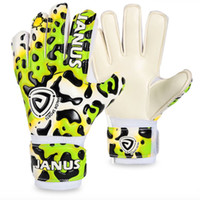 Wholesale Colorful Soccer - Sports Gloves Professional children soccer goalkeeper gloves Keeper Finger Protection Colorful leopard Boy Football Goalkeeper Gloves