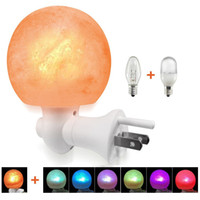 Wholesale glowing night ball for sale - Group buy Himalayan Salt Lamp Natural Crystal Salt Rock Light Glow Hand Carved Wall Night Lights with LED Colorfull Bulb for Air Purifying Bedroom