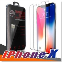 Wholesale Cellphone Screen Protectors - For Iphone X 8 7 Samsung S8 S7 Tempered glass Screen Protector Anti-fingerprint for most of the cellphones With Premium quality retailbox