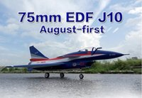 Wholesale Rc Jet Fighter - Wholesale- HSD J10 75MM EDF jet RC fighter J-10 PNP and kit EPO material,radio control model