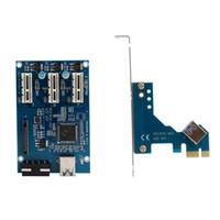 ingrosso stock di carta di qualità-Freeshipping PCI-e Express da 1X a 3 porte Switch 1X Moltiplicatore HUB Riser Card Cavo USB Scheda PCI di alta qualità Stock Retail Package Gift # 201