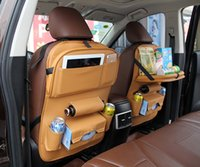 Wholesale Min Order Pcs - Deluxe Seat Organizer Car Interior Accessories Leather 4 Color Black Beige Brown Red Back Storage Bag Min Order 2 pcs Drop Ship