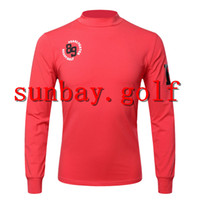 GOLF Nuovi sport t-shirt giro-giù collare anti-attrito cotone qualità golf maglietta CLUBS LONG manica tee top per PG Pearly Gates