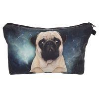 Wholesale Dogs Cosmetic - 2017 Fashion Makeup Bag Wallet Pug Dog Cosmetics Bag Travel Bag neceser mochila bolsa feminina Handbag organizer Makeup Pouch