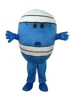 Wholesale Egg Costume Adult - Mr. Wrestler blue egg adult size cartoon mascot costume