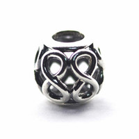 Wholesale letter beads jewelry making - Infinite Love Openwork Charms Bead Authentic 925-Sterling-Silver Eight Beads For Jewelry Making DIY Charm Bracelets Accessories HB630