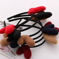 Wholesale Devil Horns Hairpin - New Cats Antlers Ears Hairband Hair Hoop Cat Ear Headband For Headwear With Devil Horn For Prom Women Hair Accessories ZA2582