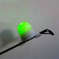 Vente en gros - 2 en 1 LED Night Fishing Rod Tip Clip sur Fish Strike Bite Alert Alarm Light