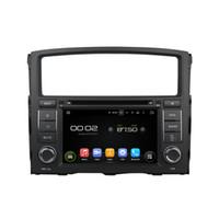 mitsubishi radio bluetooth toptan satış-Quad Core 1024 * 600 HD Ekran Android 5.1 Mitsubishi Pajero 2006-2011 için Araba DVD GPS Navigasyon Oynatıcı Radyo Bluetooth