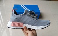 Wholesale Dmx 36 - 2017 NMD R1 Mesh Salmon Talc GRAY PINK Running Shoes Sneakers Originals Fashion NMD Runner Primeknit Shoes kids size 36-39