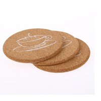 Wholesale Table Mats For Tea Cups - Round Shape Dia 9cm Plain Cork Coasters Wine Drink Coffee Tea Cup Mat Table Pad For Home Office WA1433
