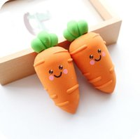 Wholesale Novelty Large Carrot Eraser Rubber Eraser Primary Student Prizes Promotional Gift Stationery kids school supplies
