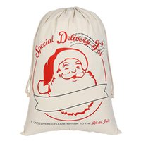 Wholesale Drawstring Backpack Kids Bags - Santa Claus Sack Christmas Candy Gift Bag Kids Christmas Gift Bags Christmas Candy Gift Bag Backpacks Printing Bags Drawstring Backpack