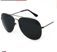 Wholesale Tac Lens - Wholesale- Classic Design Men Sunglasses Metal Frame TAC Lens UV400 Protective Beach Eyewear Sunglasses For Male