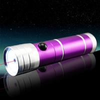 Wholesale Mini Laser Led Lighting - 9 LED Flashlight Torch Light 8 leds 1 laser Outdoors Mini LED Flashlight 300LM LED Camping Flashlight Torch Waterproof torch