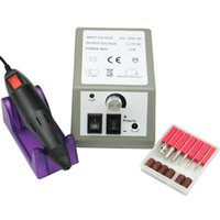 Wholesale Tool Kits For Acrylic Nail - Wholesale- Pro Electric Nail Art Kit 10W Manicure Machine File Bit Machine Manicure Kit for Salon Gel Acrylic Tips Builder Tools