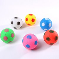 Wholesale Toys Small Rubber Balls - Baby Bath Water ball Toys Sounds Mini candy color Rubber balls Bath Small Toy Children Swiming Beach Gifts