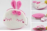 Wholesale Metoo Rabbit Bag - Wholesale- Sweet 10CM Mini Metoo Rabbit Plush Coin Purse & Wallet Pouch Case BAG ; Keychain Pendant Makeup Storage BAG Holder Pouch Handbag