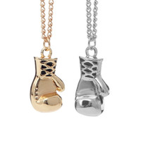 boxhandschuhe design großhandel-Special Design Edelstahl Boxhandschuh Anhänger Halskette Kette Unisex Cool für Freundin Freund Geschenk hohe Qualität