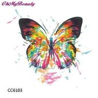 Wholesale Cheapest Tattoo - Wholesale- Cheapest Tattoo 3D Coloring Butterfly Makeup Waterproof Tattoos Women Stickers