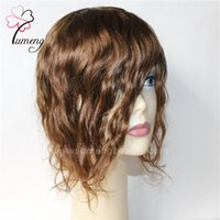Wholesale Thin Skin For Lace Wigs - Super Thin Skin Toupee For Women Real Women Toupee Human Hair