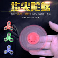 Wholesale spiral gyro toy for sale - Group buy HandSpinner Fingertips Spiral Fingers Fidget Spinner EDC Hand Spinner Acrylic Plastic Fidgets Toys Gyro Toys With Retail Box Packages white