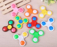 Wholesale Decompression Fingertips LED flash Colorful flash Finger topShake Light Fidget Hand Spinner Colorful Lighting For Autism and ADHD Finger