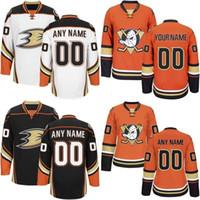Wholesale Ducks Authentic Jersey - Customized Anaheim Ducks Jerseys White Black Orange Jerseys Custom Mighty Ducks Of Anaheim Authentic Ice Hockey Jerseys Stitched Personalize