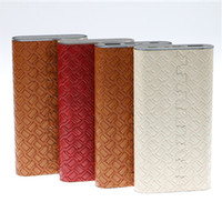 Wholesale portable charger price - Leather Power Bank for mobile phone with 10000mAh portable and favorable price fast mobile phone charger USB port