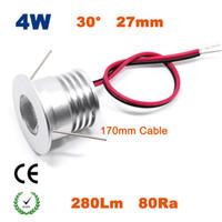 Wholesale 27mm Led - Wholesale- Newest 12PCS 4W 27mm Mini Led Spot Lamp 80Ra 320Lm 4 Watts Downlight Lighting 5 Years Warranty