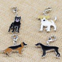 baston aksesuarları toptan satış-100 adet / grup Köpek Şekilli Anahtar Kolye anahtarlık Aksesuarları Alman Çoban, büyük Dane, Jack Russell, Cane Corso