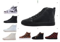 Wholesale fish furs - Cheap red bottom sneakers for men fish patterns fashion casual mens shoes ,2017 Clemence men leisure trainer footwear