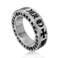 Wholesale High Quality Ancient Ring - Ancient Roman Alphabet Ring Cross Men And Women 316l Stainless Steel Ring High Quality Famous Brand Jewelry SA242