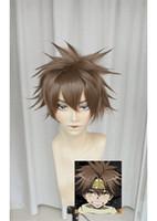 Wholesale Wig Wax - Saiyuki Son Goku Dark Cinnamon Wax Style Short Cosplay Party Wig