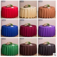 Wholesale Colorful Table Runners - New Solid Color Round Table Cloths Wedding Party Decorations Tables Runner Colorful Tablecloth Home Antependium CCA5973 30pcs