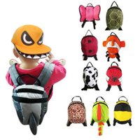 Wholesale Childrens Satchels - 11 Designs Animal Toddler School Bags Cartoon Childrens Hiking Backpacks Baby Anti Lost Backpack Kids Weekend Bag Satchel Bag CCA6728 50pcs