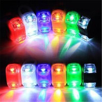 Wholesale LED Bicycle Cycling Light Silicone Bike Head Front Rear Wheel LED Flash Lamp Waterproof Safety Bike Lights With Retail Package
