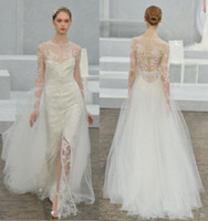 Wholesale Low Priced Long Dresses - Sexy V Neck Wedding Dresses Custom Latest Charming 2017 Long Sleeves Lace Bridal Wedding Gowns Low Price