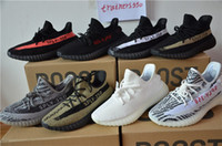 Wholesale Shoes Running 13 - With Original box SPLY 350 Boost V2 all With Box 2016 Black Grey Orange Running Shoes Sneakers 350 Boost V2 woman man shoes us-13