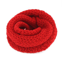 Wholesale christmas shawl for girls - Wholesale- Fashion 1 PCS Winter Baby Kids Girls Boys Warm Shawl Scarf Knitted Wool Neck Warmer For Christmas New Year Gift Hot Selling