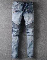 bp jeans großhandel-NWT BP Männer stilvolle Mode Stretch Distressed Slim  Säure gewaschen Biker Jeans 3e8663d96d