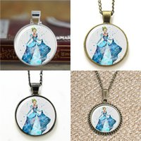 Wholesale Dress Chains Print - 10pcs Cinderella dressed VISION 2 Art Print crystal shoes Glass Photo Necklace keyring bookmark cufflink earring bracelet