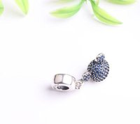 Fits Pan Bracelets 4.5mm mini micky à demi-tête Dangle Charms Silver Beads Cubic Zirconia 100% 925 Sterling Silver Charms for DIY Jewelry