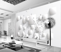 3D dandelion TV background wall mural 3d wallpaper 3d wall papers for tv backdrop