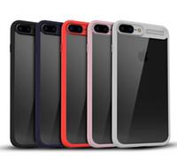 iphone 5s tampon kasası açık toptan satış-Hibrid 2 in 1 ile Yumuşak TPU Tampon Şeffaf Clear Arka Kapak Koruyucu kapak kılıf iphoneX 8 7 artı i6plus 5 S Samsung S7 kenar S8 artı