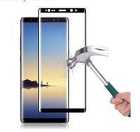 protector de pantalla anti-choque tpu al por mayor-Tapa completa 3D Vidrio templado para Samsung Galaxy Note 8 Protector de pantalla para Galaxy S8 S8 más película protectora