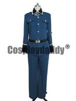 uniforme de alemania al por mayor-Axis Powers Hetalia Germany Traje de Cosplay Traje Uniforme