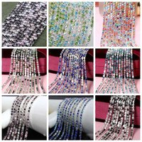 Wholesale Sew Crystal Color - Mixed Color 3mm Crystal Sew Metal Claw Sewing Rhinestone Cup Chains 10yards Lot SS12 Claw Chains Trimming For DIY Garment Accessories